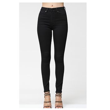 Cozy Classic Black Denim KANCAN Jeans