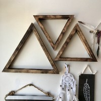 Wood Triangle Wall Art