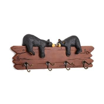 Bears In Love Coat Rack