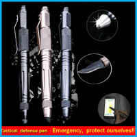 Laix b006 Outdoor Self Defense Tactical Pen Multi-Tool Tungsten Steel Glass With Knife touch pen defence pen outdoor tools