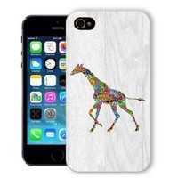 ChiChiC Iphone case,i phone 5c case,iphone 5c case,iphone5c covers, plastic cases back cover skin protector,wood grain, floral giraffe