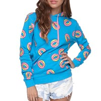 ODD FUTURE All Over Donut Hoodie - Womens Hoodie - Purple -