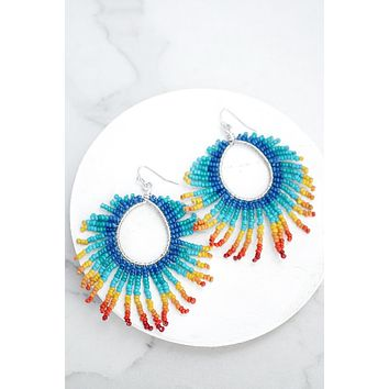 Rainbow Colorful Seed Beads Earrings