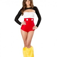 Nicky Mouse Romper Costume Set @ Amiclubwear costume Online Store,sexy costume,women's costume,christmas costumes,adult christmas costumes,santa claus costumes,fancy dress costumes,halloween costumes,halloween costume ideas,pirate costume,dance costume,c