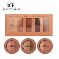 3CE EUNHYE HOUSE Lipstick Eyeshadow Makeup Pallete batom Beauty 5 matte colors Lipstick Set with Shimmer 3 Color Eyeshadow Set