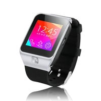 Fashion Bluetooth Smart Watch Unlocked SIM Phone Watch Sync Call Music Reminder Anti-lost phone (Color: Black) = 1843006916