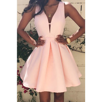 Hot Sale Zippers Backless Sexy One Piece Dress [4918660292]