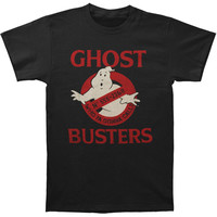 Ghostbusters Men's  Phone Number Logo T-shirt Black