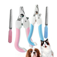 Stainless Steel Dogs Nail Clipper and Nail File Set