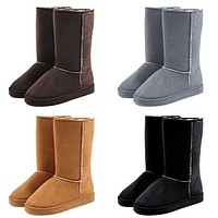 UGG Women Fashion Wool Snow Boots Calfskin Shoes-5