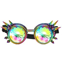 STYLEDOME Colorful Glasses Rave Festival Party EDM Sunglasses Diffracted Lens