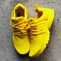 Nike Air Presto Women Men Fashion Running Sport Casual Shoes Sneakers Yellow White Soles H Aa Sddsl Khzhxmkh