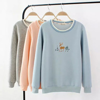 Deer Embroidery Sweater