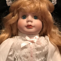 Lovely Vintage Collectible 16 Inch Porcelain Doll With Long Flowing Wavy Honey Blonde Hair in Box and Never Used in Perfect Condition - Edit Listing - Etsy