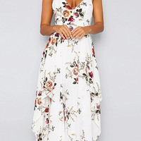 'Morgan' Floral Sleeveless Cross Back Sundress