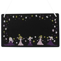 Child Related PRINCESS CHALKBOARD PLAQUE Wood Room PRINCESS