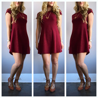 A Suede Shoulder Swing in Burgundy