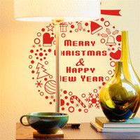 Hot Limited Sale Zooyoo Merry Christmas Wall Decal Vinyl Wallpaper Decals Sticker Window Decorative Adesivo De Parede Poster