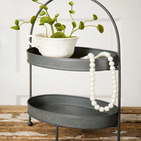 Two-Tier Metal Tray