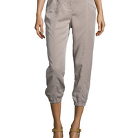 Lightweight Cropped Tapered Pants,