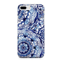 Delft Blue Mandalas Pattern Phone Case, Blue and White Phone Case, Custom Phone Case, Mandala Phone Case, iPhone 8, Samsung Galaxy S8