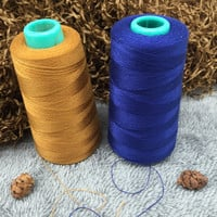 Hot Sale 1 Spool sewing threads industrial Jeans Sewing Thread for Sewing Machine 20S 2 Navy Blue