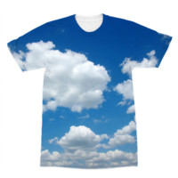 Happy Clouded Sky American Apparel Sublimation T-Shirt