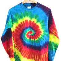 Vivid Rainbow Tie-Dye Long Sleeve Tee