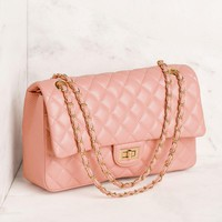 Just For Fun Blush Quilted Handbag