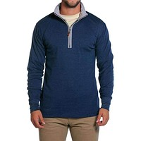 Puremeso Quarter Zip Pullover in Navy by The Normal Brand