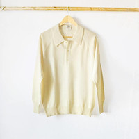 Male ivory pullover, sweater, jumper, vintage men's clothing