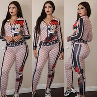 GUCCI Women Long Sleeve Top Pants Two-Piece