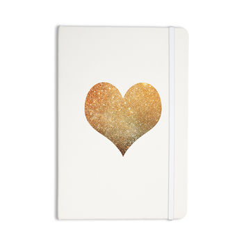 """Suzanne Carter """"Gold Heart"""" Glam Everything Notebook"""