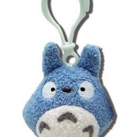 Totoro Blue Plush Backpack Clip