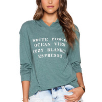 Wildfox Couture Hamptons House Hoodie in Cold Tile