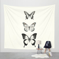 Butterflies // Align Wall Tapestry by Amy Hamilton