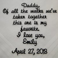 Personalized Father of the Bride from Bride embroidered wedding men's handkerchief grandfather thank you free gift box