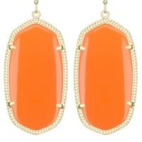 Danielle Earrings in Orange - Kendra Scott Jewelry