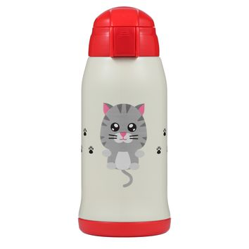 Animal Bottles - 17oz Vacuum Insulated Water Bottle | Misty the Kitty