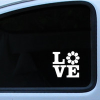 """VW Flower Power, Ricky Ticky Stickies Decals For Your Car Love Sign 4"""", In multiple of different colors"""