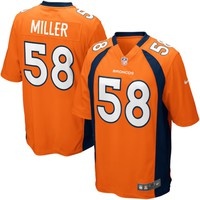 Mens Denver Broncos Von Miller Nike Orange Game Jersey
