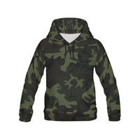Camo Green All Over Print Hoodie for Men (USA Size) (Model H13) | ID: D2068805