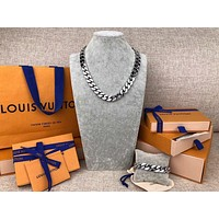 Louis Vuitton Lv Chain Links Necklace Silver M68272 - Best Deal Online