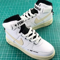 Nike Air Force 1 High Utility Af1 White Light Cream Sport Shoes - Best Online Sale
