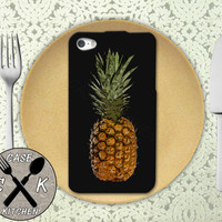 Pineapple Fruit Art Summer Fruit Tumblr Custom Rubber Tough Case For iPhone 4 and 4s and iPhone 5 and 5s and 5c and iPhone 6 and 6 Plus +