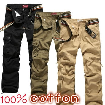 Group-buying!!!! 2014 Hot Selling brand Men's fashion army gray cargo pants military pants for men