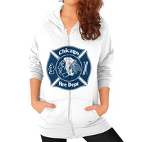 Chicago fire depart Zip Hoodie (on woman)