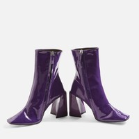 Harp Patent Ankle Boots - Boots - Shoes