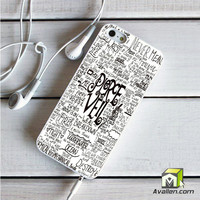 Pierce The Veil Song Lyric iPhone 5|5S Case by Avallen