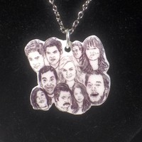 Parks and Rec a Sketch - 18 Inch Silver Chain Necklace